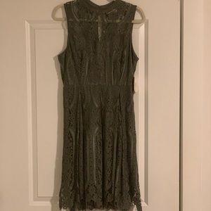 Olive Lace Dress Altar'd State
